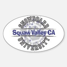 Snowboard Squaw Valley CA Oval Decal