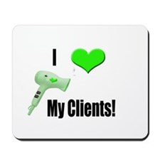 I Love (Heart) My Clients (Gr Mousepad