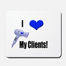 I Love (Heart) My Clients (Bl Mousepad