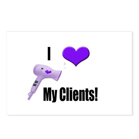 I Love (Heart) My Clients (Pu Postcards (Package o