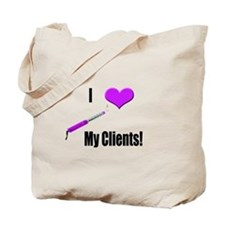 I Love (Heart) My Clients (Pu Tote Bag