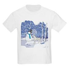 Snowman & Dalmatian Holiday T-Shirt