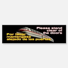 Monorail Red Bumper Bumper Bumper Sticker