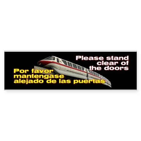 Monorail Red Bumper Sticker