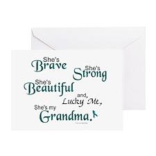 Lucky Me 1 (Grandma OC) Greeting Card