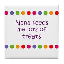 Nana feeds me lots of treats Tile Coaster