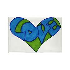 Heart Full of Love Rectangle Magnet
