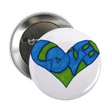 "Heart Full of Love 2.25"" Button"