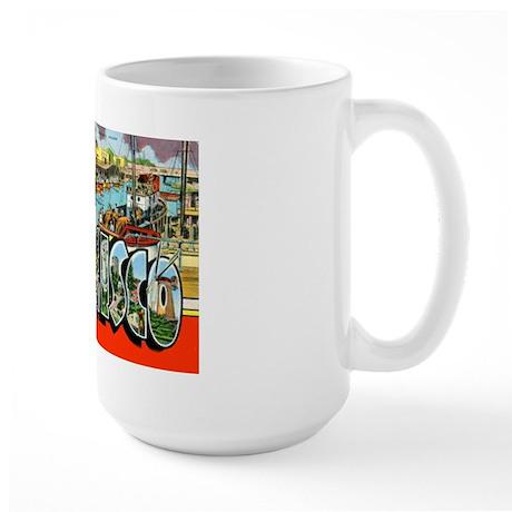 San Francisco California Greetings Large Mug