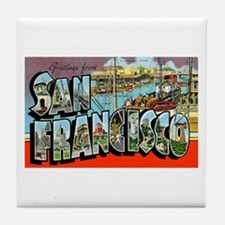 San Francisco California Greetings Tile Coaster