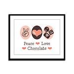 Peace Love Chocolate Framed Panel Print