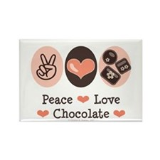 Peace Love Chocolate Rectangle Magnet