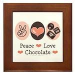 Peace Love Chocolate Framed Tile