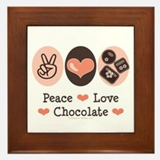 Peace Love Chocolate Framed Tile