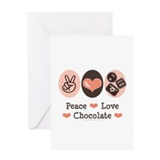 Peace Love Chocolate Greeting Card