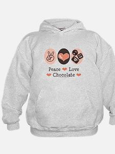 Peace Love Chocolate Hoodie
