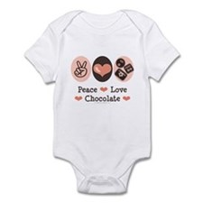 Peace Love Chocolate Infant Bodysuit