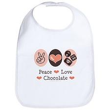 Peace Love Chocolate Bib