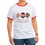 Peace Love Chocolate Ringer T
