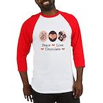 Peace Love Chocolate Baseball Jersey