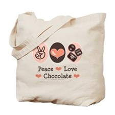 Peace Love Chocolate Tote Bag
