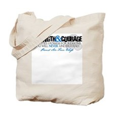 Courage&Strength AF Wife Tote Bag