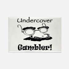 Undercover Gambler Rectangle Magnet (10 pack)