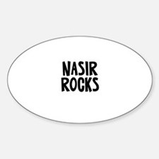 Nasir Rocks Oval Decal
