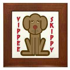 Yippee Dog Framed Tile