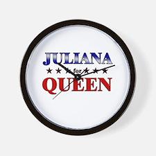 JULIANA for queen Wall Clock
