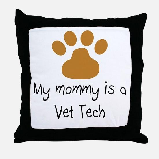 Vet Tech Throw Pillow