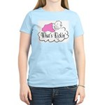 What's Kickin' Women's Pink T-Shirt