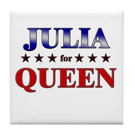 JULIA for queen Tile Coaster