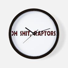 oh shit, raptors! Wall Clock