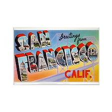 San Francisco California Greetings Rectangle Magne