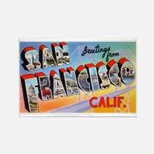 San Francisco California Greetings Rectangle Magne