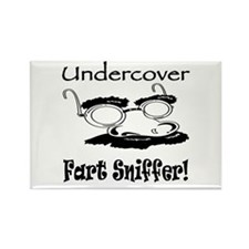 Undercover Fart Sniffer Rectangle Magnet (10 pack)