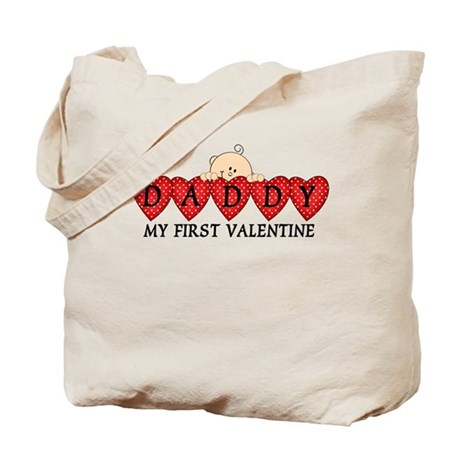 Daddy First Valentine Tote Bag