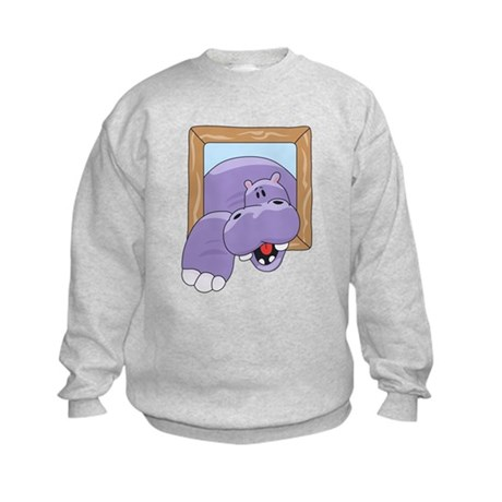 Coming & Going Hippo Kids Sweatshirt