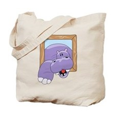 Coming & Going Hippo Tote Bag