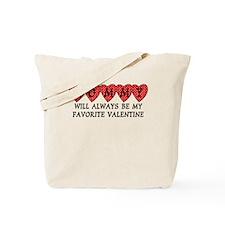 Mommy Favorite Valentine Tote Bag
