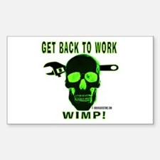 Back to Work Rectangle Decal