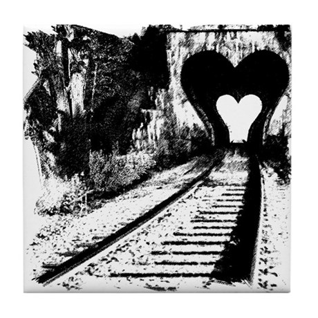Road to the heart. Tile Coaster