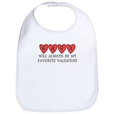 Nana Favorite Valentine Bib