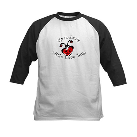 Grandma's Little Love Bug Kids Baseball Jersey