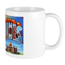 Des Moines Iowa Greetings Mug