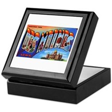 Des Moines Iowa Greetings Keepsake Box