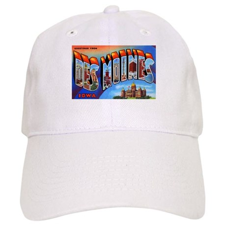 Des Moines Iowa Greetings Cap