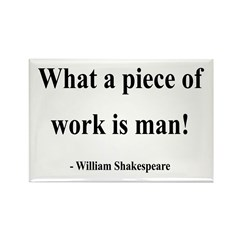 Shakespeare 21 Rectangle Magnet