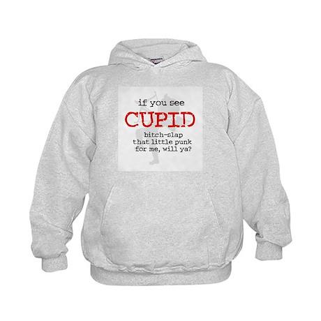 Bitch-Slap Cupid Kids Hoodie
